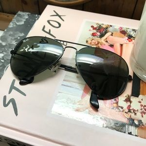 Ray-Ban Accessories - Ray-Ban 58mm Aviators w/ Black Frame Black Lens